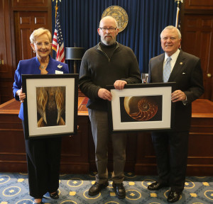 Joey Potter with Governor and Mrs. Nathan Dealand with selected images