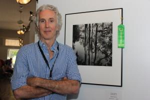 "Benjamin Dimmitt with his image ""3 Sisters' Spring""SlowExposures 2014"