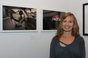 Tamara Reynolds with her two accepted images<br />SlowExposures 2014